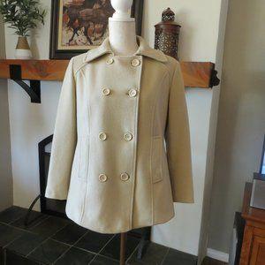 Calvin Klein Wool Cashmere Pea Coat Size 2